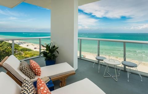Thompson Miami Beach Ocean Front Balcony