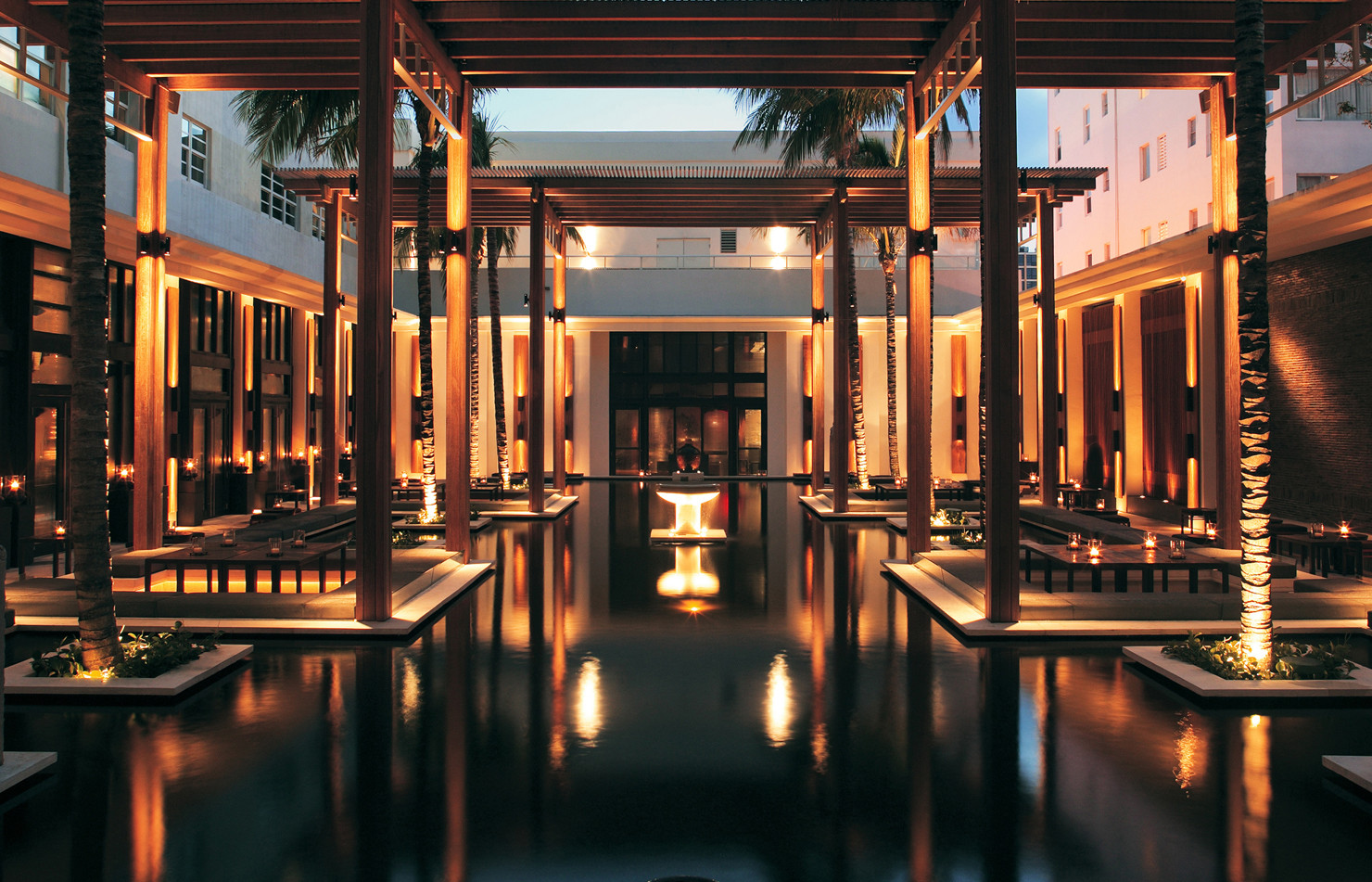 The Setai Reflecting Pool Courtyard