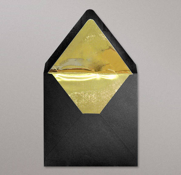Schwarz Goldenen Innenfutter