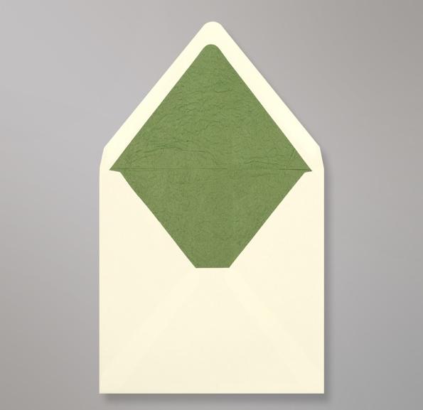 Elfenbein Grünen Innenfutter