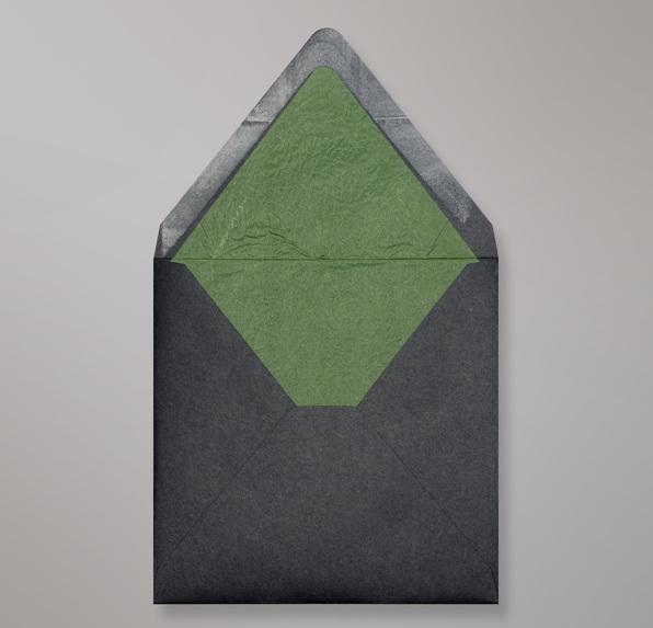 Schwarz Grünen Innenfutter