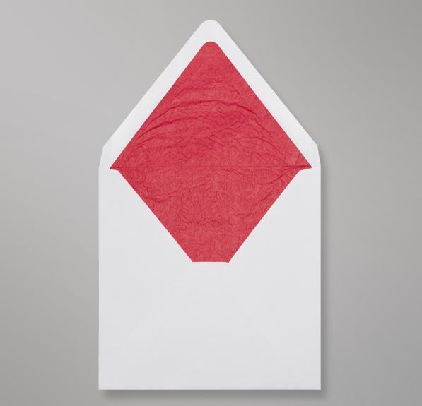 Weiß Roten Innenfutter