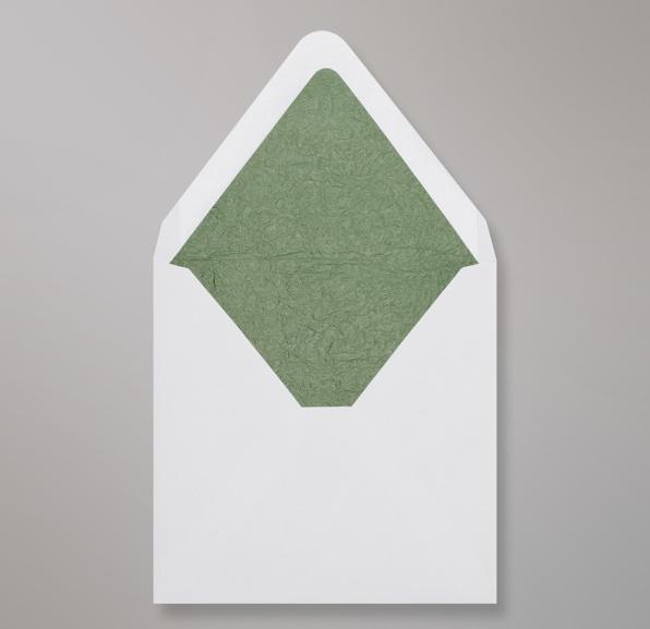 Weiß Grünen Innenfutter