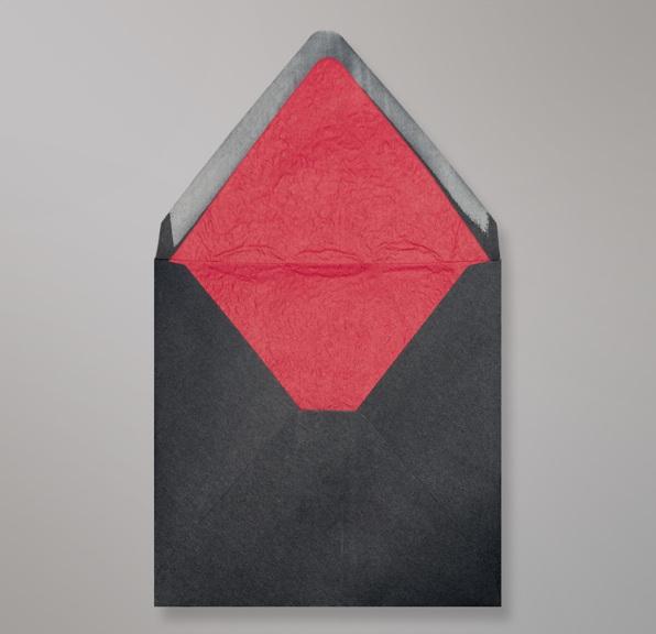 Schwarz Roten Innenfutter