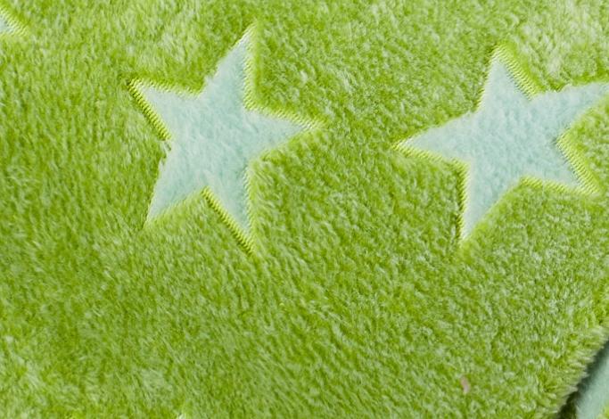 Fleece Sterne grün
