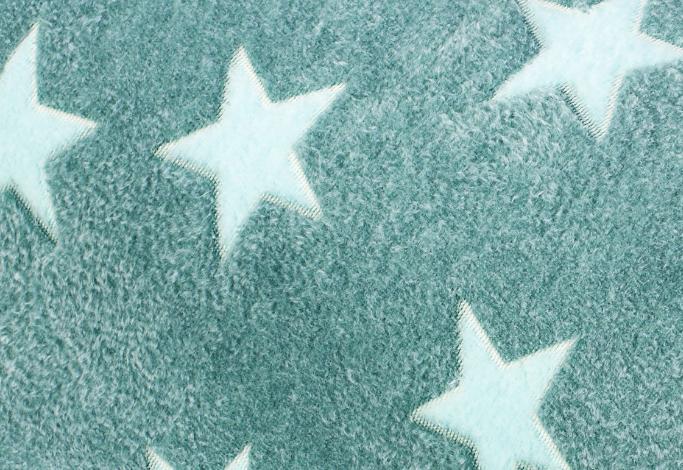 Fleece Sterne Petrol