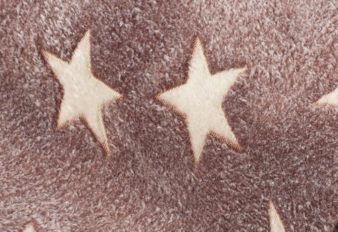 Fleece Sterne braun