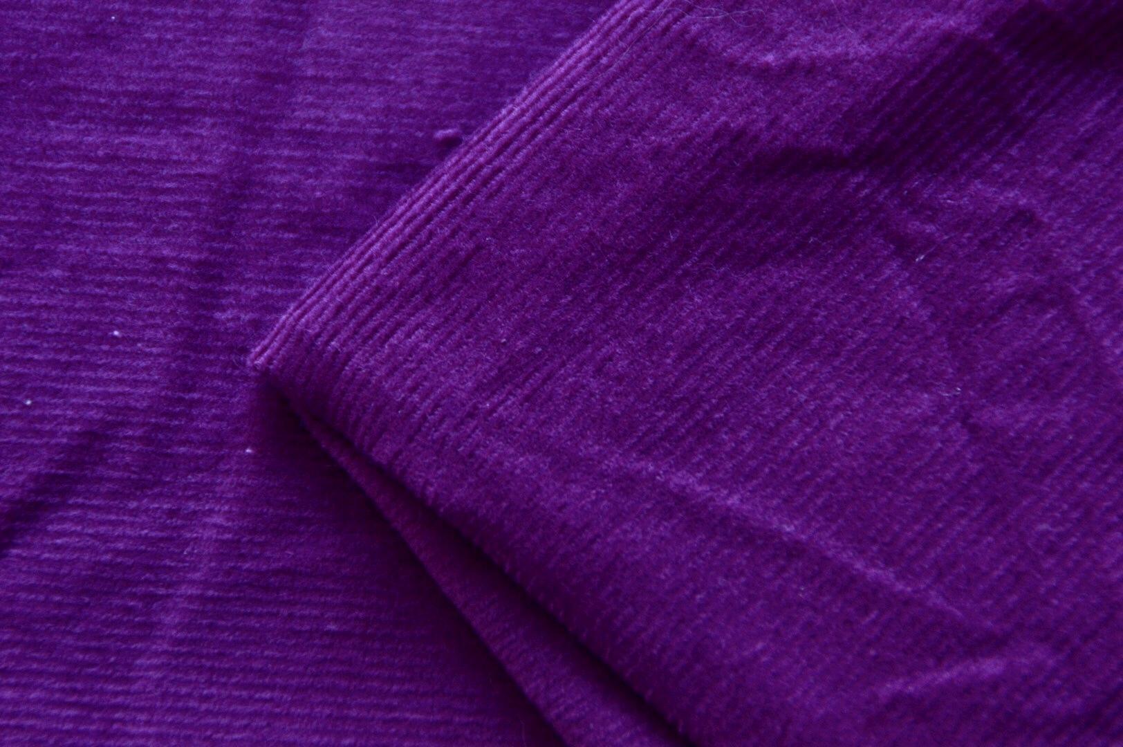 Feincord lila