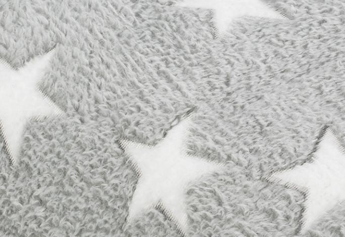 Fleece Sterne Grau