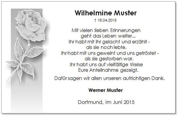 Danksagungen Bestattungshaus Kuhnert In Dortmund
