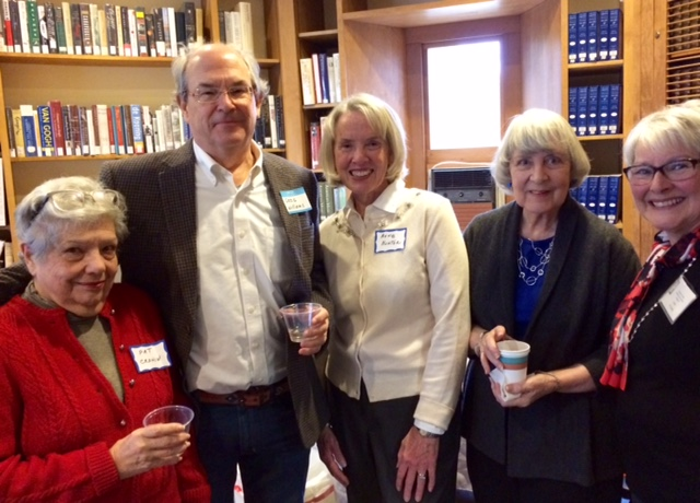 Friends' member, Pat Cronin; retired judge Greg Williams, our speaker; Friends' Program Coordinator, Ann Hunter; Board members Sally Schumann and Lori Scudder.