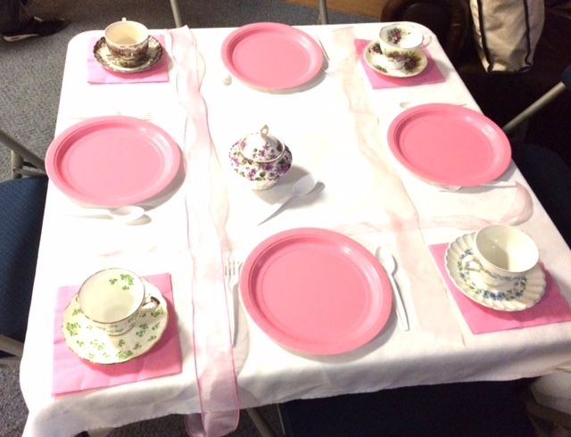 Table setting for the tea