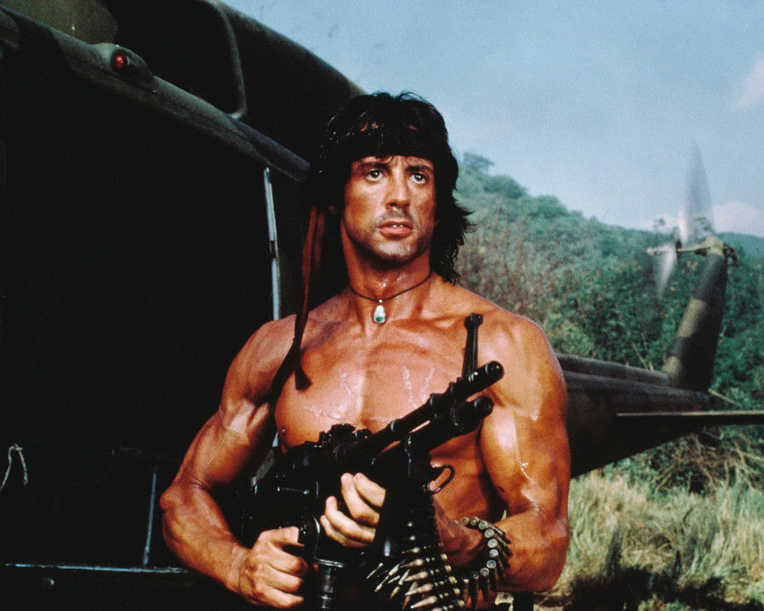 Sylvester Stallone in Rambo: First Blood part II