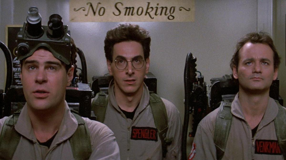 Dan Aykroyd, Harold Ramis & Bill Murray in Ghostbusters