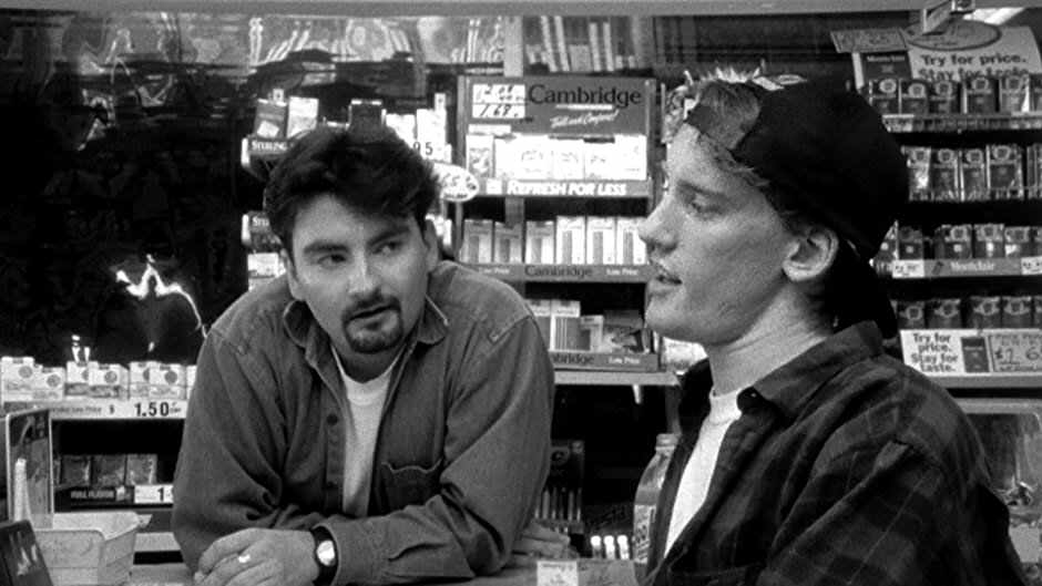 Brian O'Halloran & Jeff Anderson in Clerks