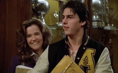Lea Thompson & Tom Cruise in All the Right Moves