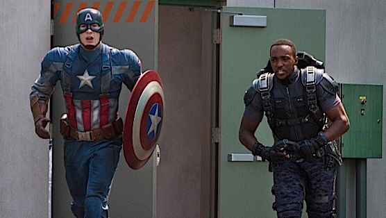 Chris Evans & Anthony Mackie in Captain America: The Winter Soldier