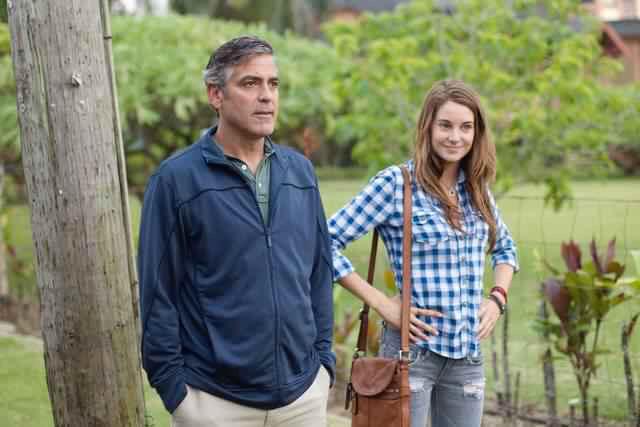 George Clooney & Shailene Woodley in The Descendants