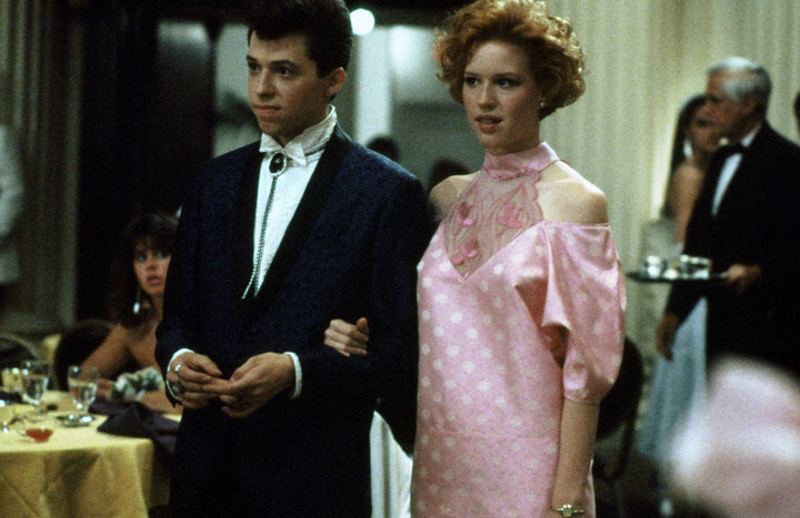 Jon Cryer & Molly Ringwald in Pretty in Pink