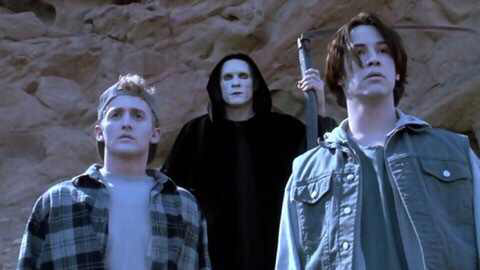 The cast of Bill & Ted's Bogus Journey