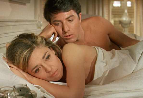 Dustin Hoffman & Anne Bancroft in The Graduate