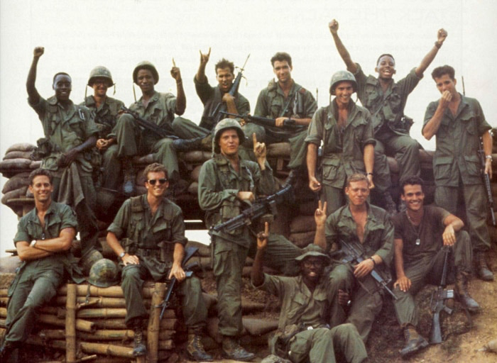 The cast of Hamburger Hill
