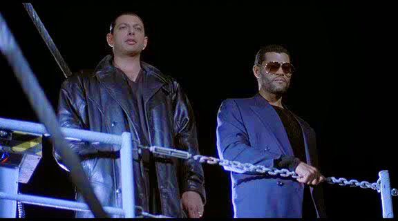 Jeff Goldblum & Laurence Fishburne in Deep Cover