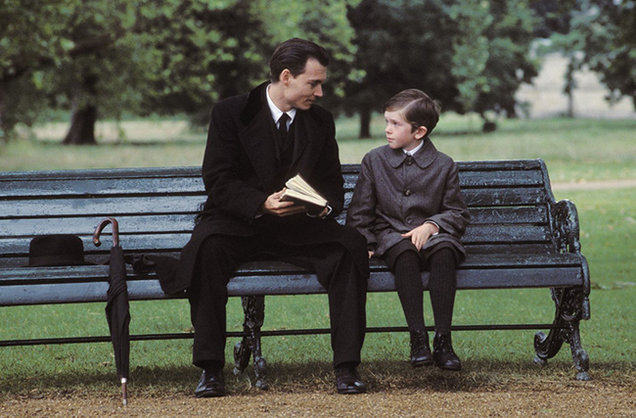 Johnny Depp & Freddie Highmore in Finding Neverland