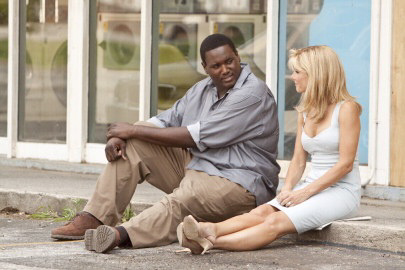 Quinton Aaron & Sandra Bullock in The Blind Side