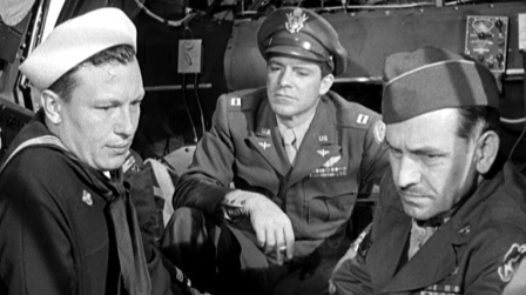 Harold Russell, Dana Andrews & Fredric March in The Best Years of our Lives