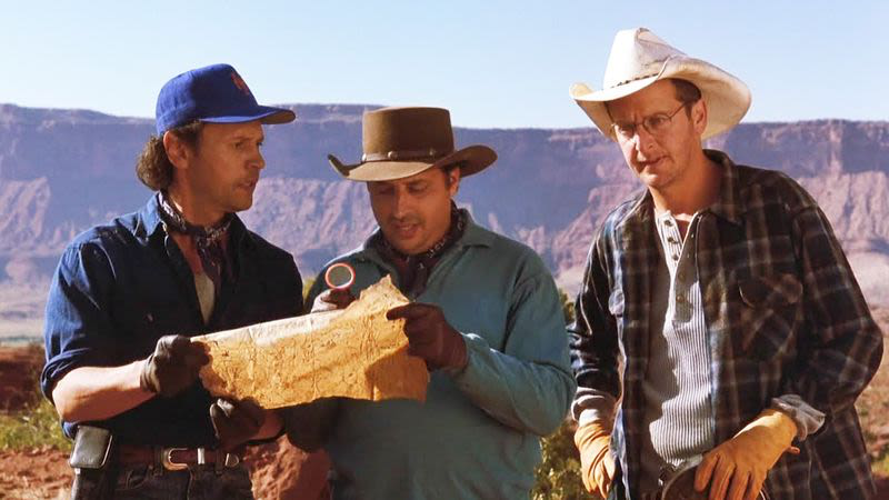 Billy Crystal, Jon Lovitz & Daniel Stern in City Slickers II