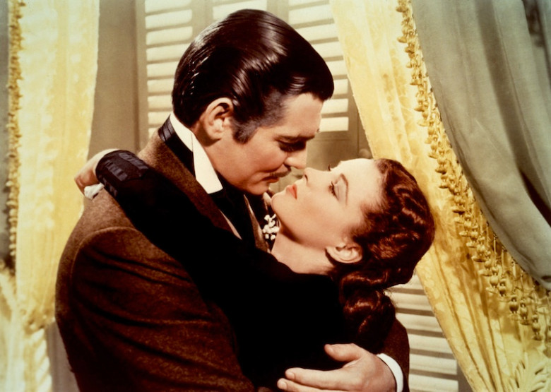 Clark Gable & Vivien Leigh in Gone With the Wind