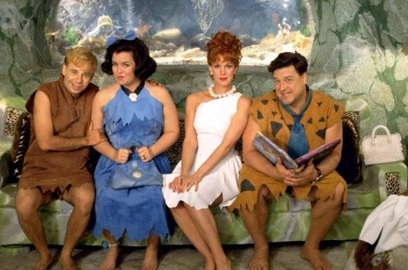 The cast of The Flintstones