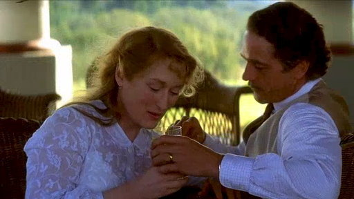 Meryl Streep & Jeremy Irons in The House of the Spirits