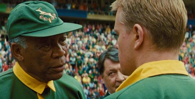 Morgan Freeman & Matt Damon in Invictus