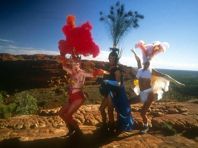 Hugo Weaving, Terence Stamp & Guy Pearce in The Adventures of Priscilla, Queen of the Desert
