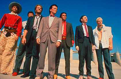 The cast of The Adventures of Buckaroo Banzai Across The 8th Dimension