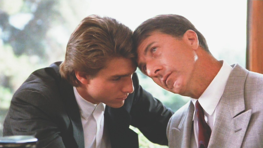 Tom Cruise & Dustin Hoffman in Rain Man