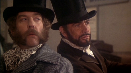 Donald Sutherland & Sean Connery in The First Great Train Robbery
