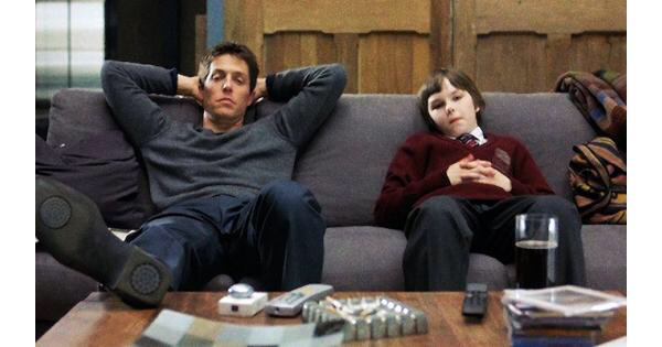 Hugh Grant & Nicholas Hoult in About A Boy