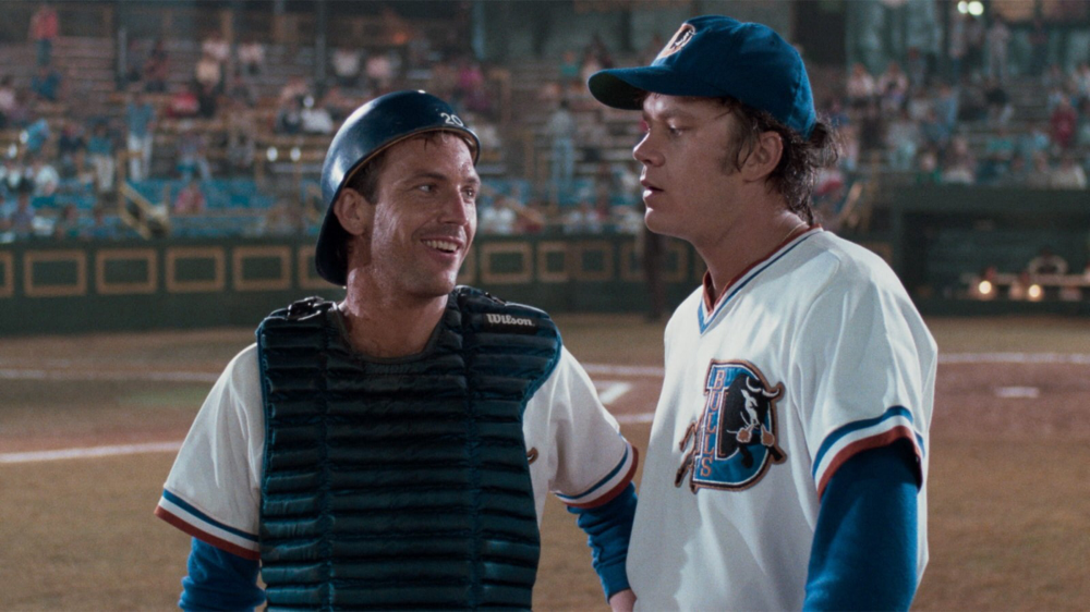 Kevin Costner & Tim Robbins in Bull Durham