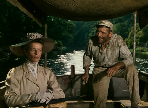 Katharine Hepburn & Humphrey Bogart in The African Queen