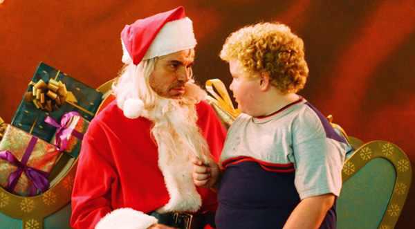 Billy Bob Thornton & Brett Kelly in Bad Santa