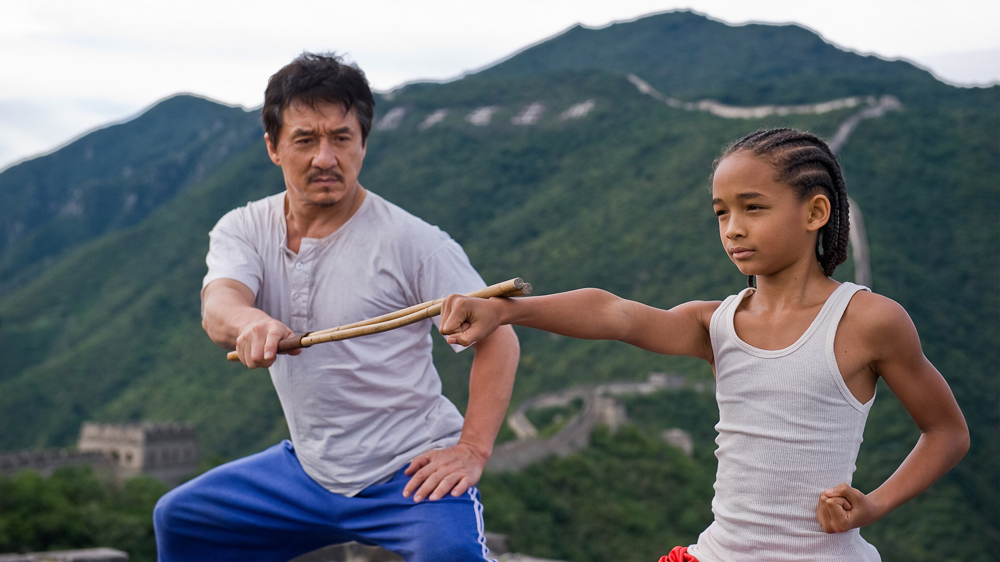 Jackie Chan & Jaden Smith in The Karate Kid