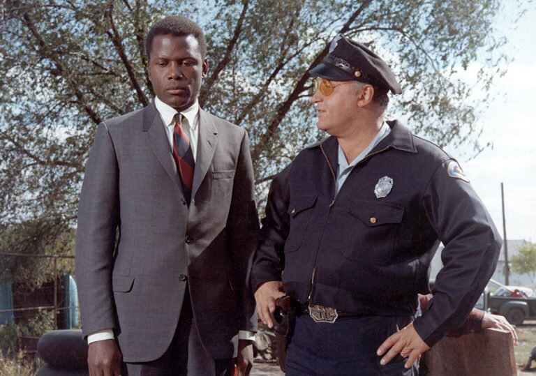 Sidney Poitier & Rod Steiger in In the Heat of the Night