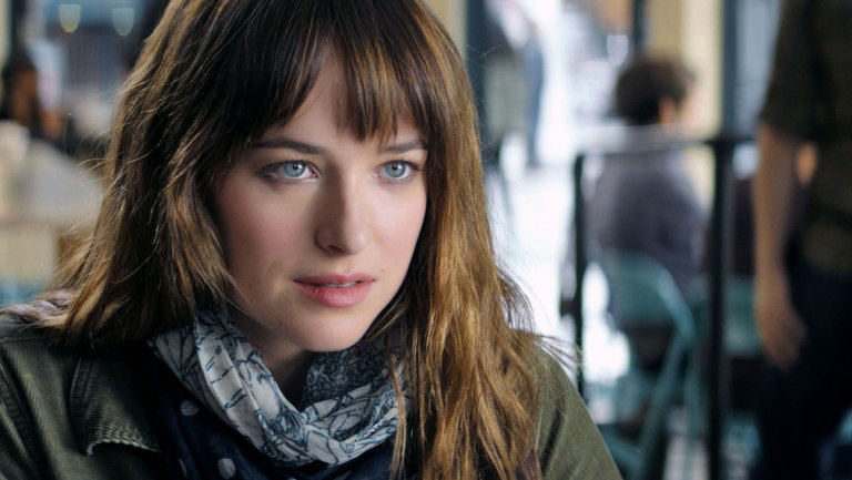 Dakota Johnson in Fifty Shades of Grey