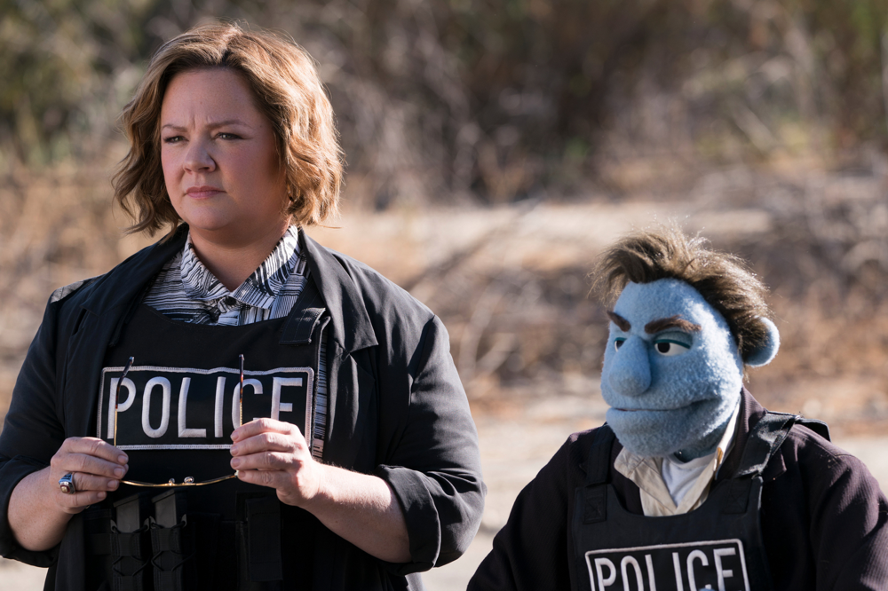 Melissa McCarthy (left) in The Happytime Murders