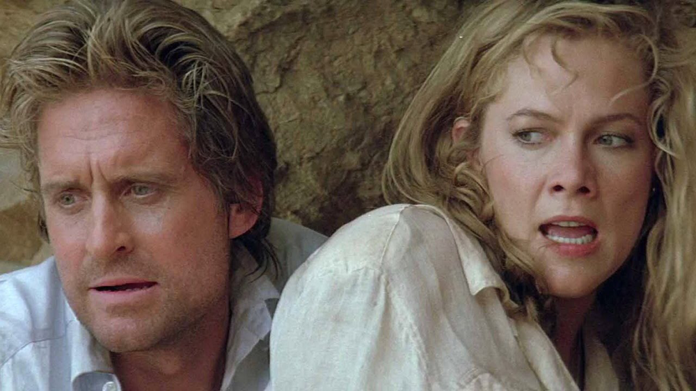 Michael Douglas & Kathleen Turner in The Jewel of the Nile