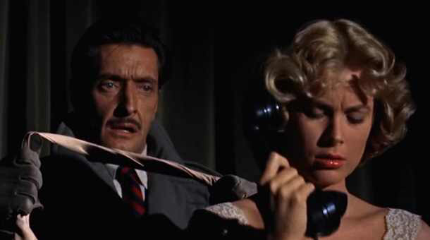 Anthony Dawson & Grace Kelly in Dial M for Murder