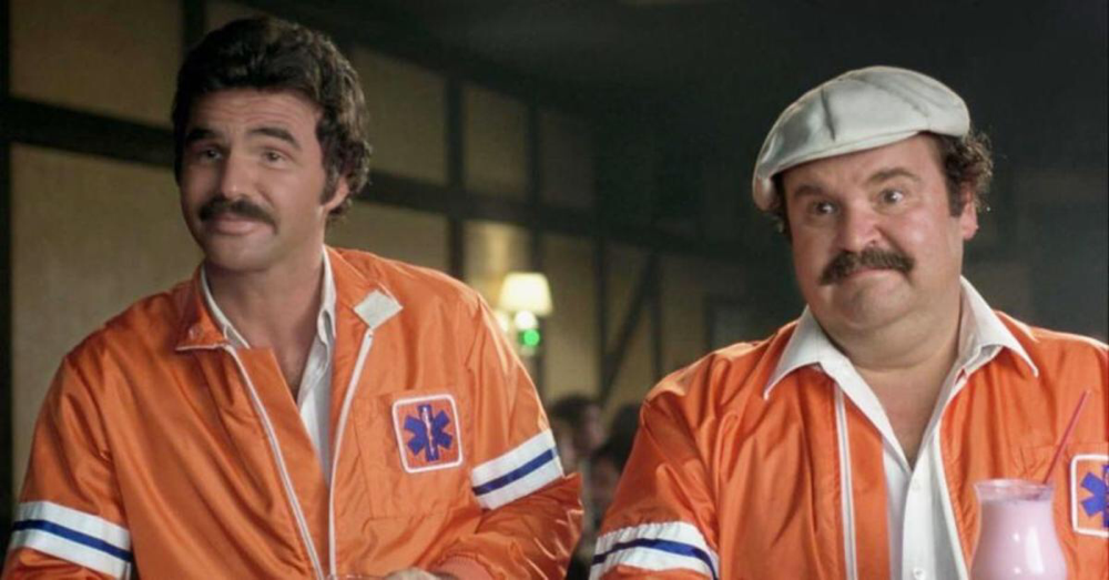 Burt Reynolds & Dom DeLuise in The Cannonball Run